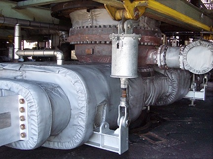 Picture of our customer's valve once installed in the field.  We weren't able to shoot pictures of the valves in production.